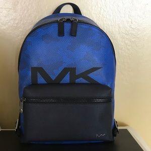 NEW Michael Kors Mens Cooper Neon Blue Backpack